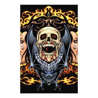 Skulls, Vampires and Bats Gothic Design by Al Rio Flyer