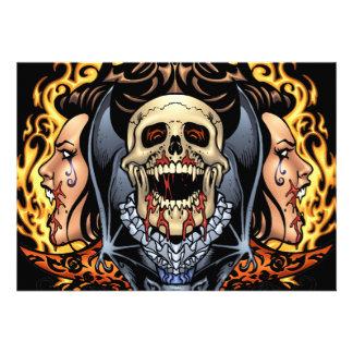 Skulls Vampires and Bats Gothic Design by Al Rio Announcements