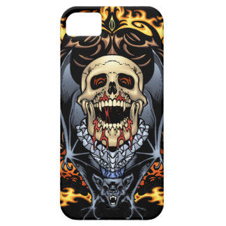 Skulls, Vampires and Bats Gothic Design by Al Rio iPhone SE/5/5s Case