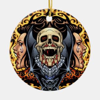 Skulls Vampires and Bats Gothic Design by Al Rio Ornament