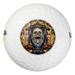 Skulls, Vampires and Bats Gothic Design by Al Rio Pack Of Golf Balls