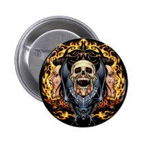 gothic,, skull,, skulls,, vampire,, vampires,, bat,, fire,, blood,, al rio, Button with custom graphic design