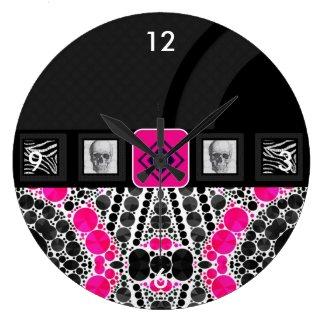 Skulls Vape Zebra Bling Clock