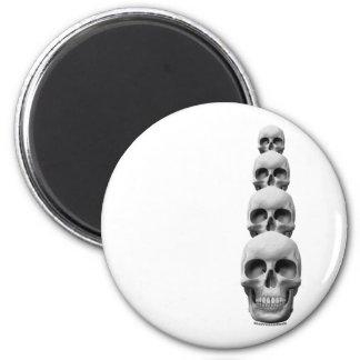 Skulls - Vertical 2 Inch Round Magnet