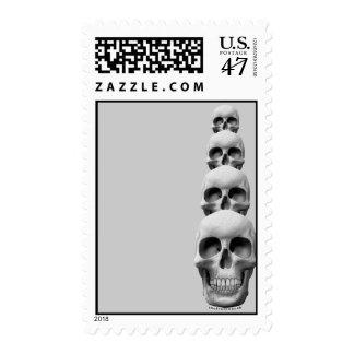 Skulls - Vertical Stamp