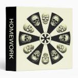 Skulls Vinyl Binder