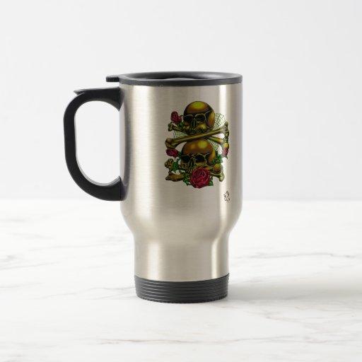 Skulls, Webs, and Roses Coffee Mug