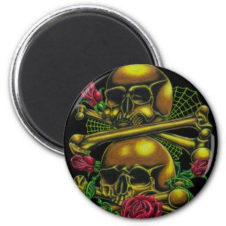 Skulls, Webs, and Roses Refrigerator Magnets
