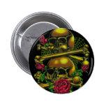Skulls, Webs, and Roses Pins