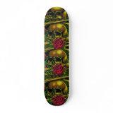 Skulls, Webs, and Roses Skateboard skateboard