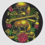 Skulls, Webs, and Roses Sticker