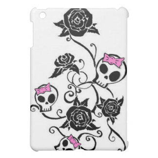 Skulls with Bows and Roses iPad Mini Case
