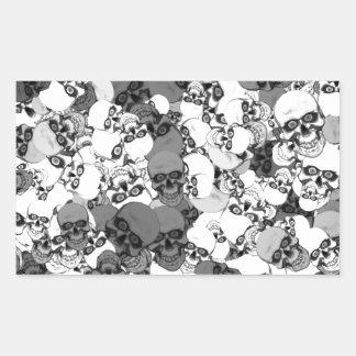 Skulls With Eyes Rectangular Sticker