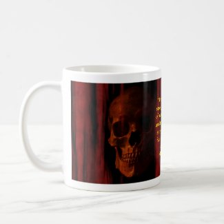 Skulls with Lovecraft Quote Coffee Mug