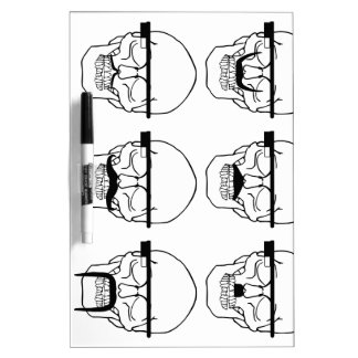 skulls with mustache and OK Glass Dry-Erase Whiteboards