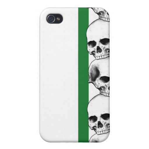 Skulls with Stripe (Green) IPhone Case iPhone 4/4S Cases