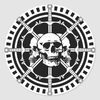 Skulls with Swords Classic Round Sticker