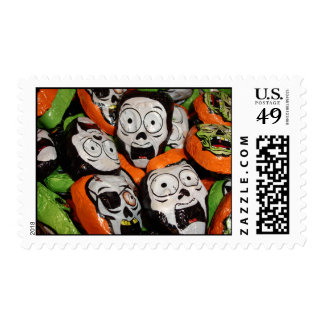 Skulls & Zombies Foil Candy Postage Stamps