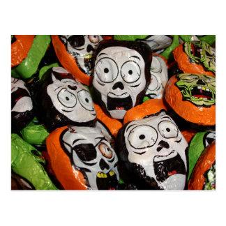 Skulls & Zombies Foil Candy Postcard