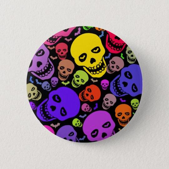Skulls'n'Bats Button Badge