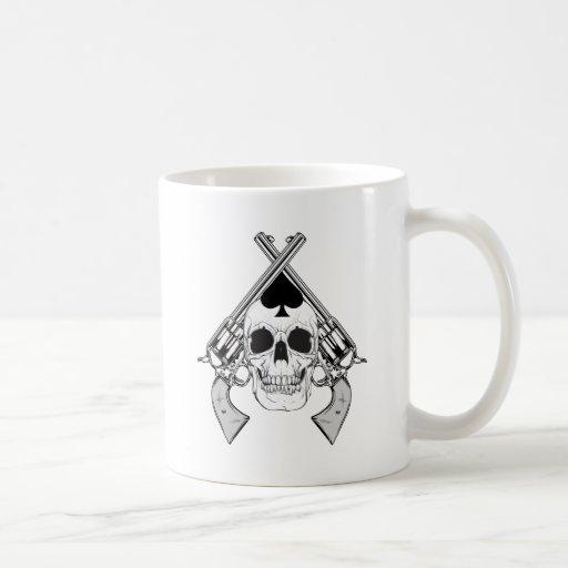 skullSpadeB&W Taza De Café