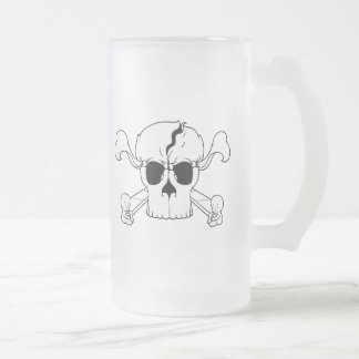 Skullusion Frosted Glass Beer Mug