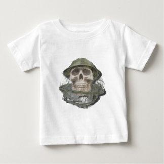 SkullWearingBeeKeeperHat100712 copy.png Baby T-Shirt