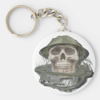 SkullWearingBeeKeeperHat100712 copy.png Basic Round Button Keychain