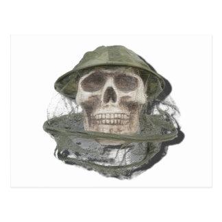 SkullWearingBeeKeeperHat100712 copy.png Postcard