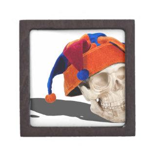 SkullWearingJokerHat103013.png Premium Keepsake Box