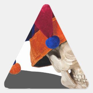 SkullWearingJokerHat103013.png Triangle Sticker