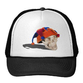 SkullWearingJokerHat103013.png Trucker Hat
