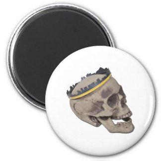 SkullWearingSkylineCrown121611 Imán Redondo 5 Cm