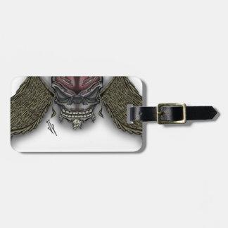 skullwings bag tag