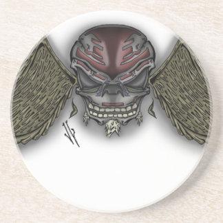 skullwings sandstone coaster