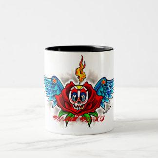 SKULLWINGSROSEMUX, mad-mux Two-Tone Coffee Mug