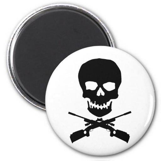 skullxrifles 2 inch round magnet
