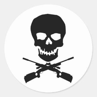 skullxrifles classic round sticker