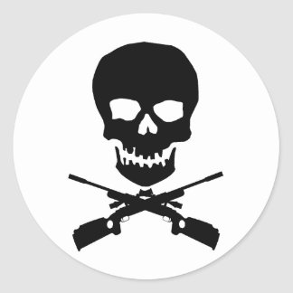 skullxrifles round stickers