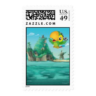 Skully Flying Postage Stamp