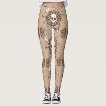 Halloween Themed Skully Leggings
