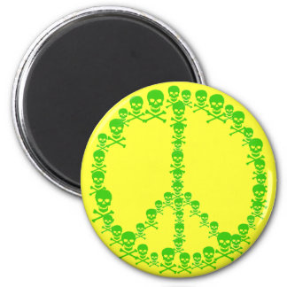 Skully Peace Sign Magnet