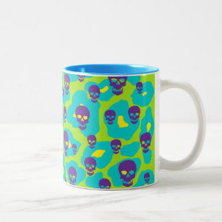 Skully Pop Leopard Two-Tone Coffee Mug
