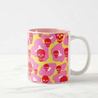 Skully Pop Leopard Two-Tone Coffee Mug