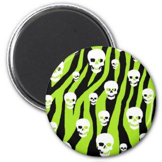 Skully Pop Zebra Magnet