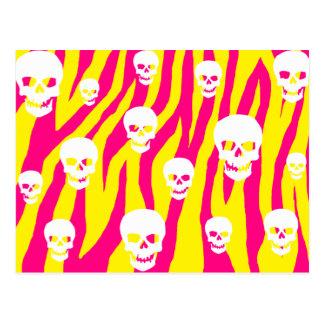 Skully Pop Zebra Post Cards