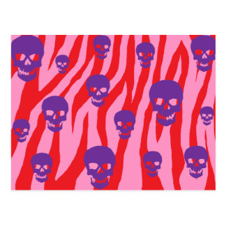 Skully Pop Zebra Postcards