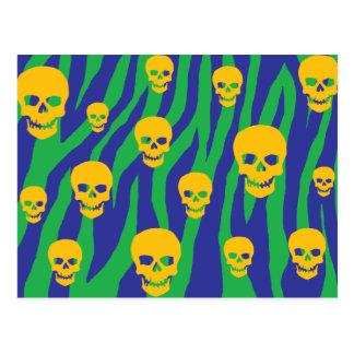 Skully Pop Zebra Post Card