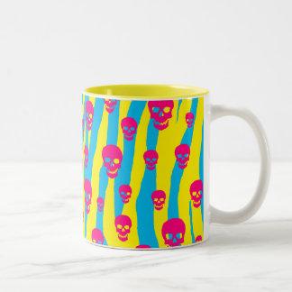 Skully Pop Zebra Two-Tone Coffee Mug