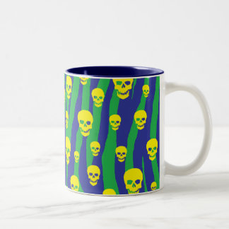 Skully Pop Zebra Two-Tone Coffee Mug
